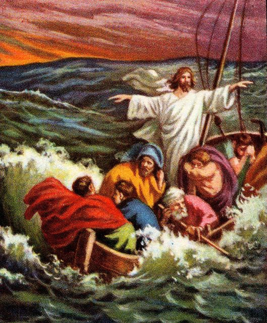 Jesus Calming the Sea Mark 4:37-39